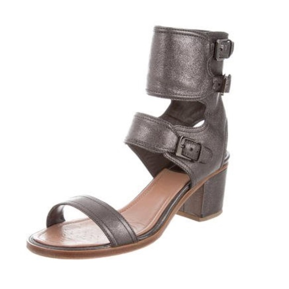 Laurence Dacade Herlin Metallic Sandals cheap online shop buy cheap price CvCso5uME